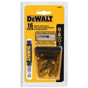 DeWalt DW2053 16 Piece Magnetic Drive Guide Set