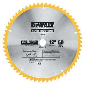 DeWalt DW3126 12 In X 60-Tooth Fine Finish Saw Blade