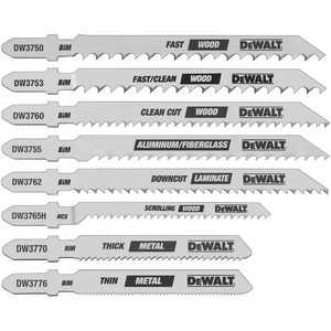 DeWalt DW3791 8 Piece T-Shank Jig Saw Blade Set