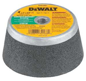 DeWalt DW4961 4 In X 2 In T11 Masonry Grinding Wheel