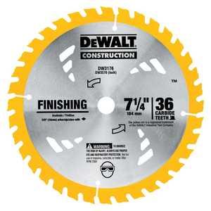 DeWalt DW3576B10 7-1/4 In 36t Carbide Thin Kerf Circular Saw Blade