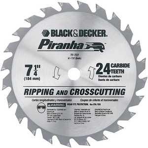 Black and Decker 67-737 7-1/4 In Piranha Carbide 24t Blade
