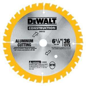 DeWalt DW9152 6-1/2 In 36t Aluminum Cutting Saw Blade 5/8 In Arbor