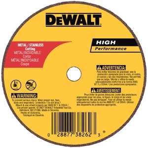 DeWalt DW8723 4 In X 1/16 In X 5/8 In A60t Long Life Wheel