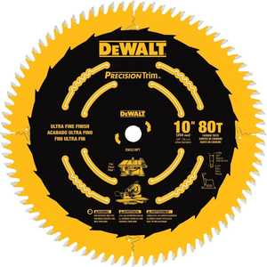 DeWalt DW3218 Pt 10 In 80t Fine Crosscutting Saw Blade