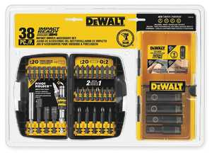 DeWalt DW2169 38-Piece Impact Ready Accessory Set