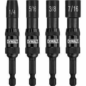 DeWalt DWPVTDRV 4 Piece Pivoting Nutsetters (1/4 In , 5/16 In , 3/8 In , 7/16 In ) - Impact Ready