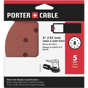 Porter-Cable 735800405 5 In H&l Ao 8 Hole 40g Disc 5 Pack
