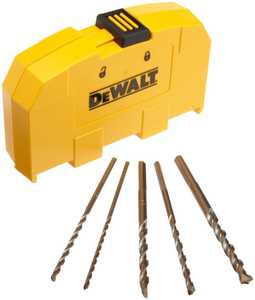 DeWalt DW5205 5-Piece Premium Percussion Masonry Drill Bit Set