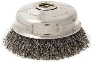 DeWalt DW49153 6 In X 5/8 In -11 Xp .014 Carbon Crimp Wire Cup Brush