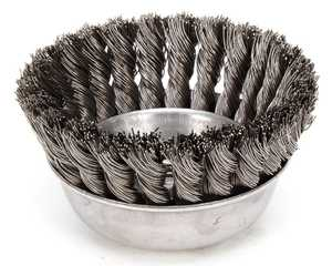 DeWalt DW49158 4 In X 5/8 In -11 Xp .020 Carbon Knot Wire Cup Brush