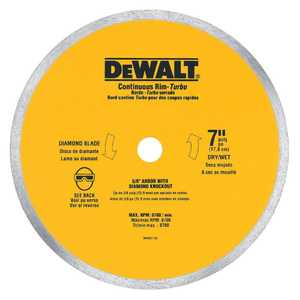 DeWalt DW4760 7 In X .060 In Ceramic Tile Blade Wet