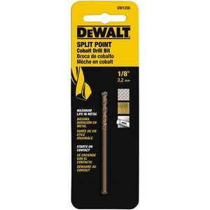 DeWalt DW1208 Drill Bit 1/8 In Split Point Cobalt