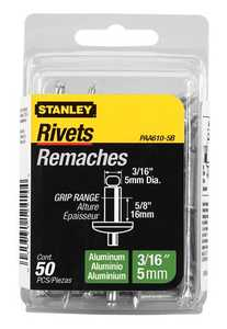 Stanley Tools PAA610-5B Aluminum Rivet 3/16x5/8 50box