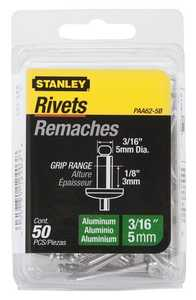 Stanley Tools PAA62-5B 1/8 x 3/16-Inch Aluminum Rivets 50-Pack