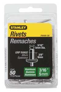 Stanley Tools PAA66-5B Aluminum Rivet 3/16x3/8 50box