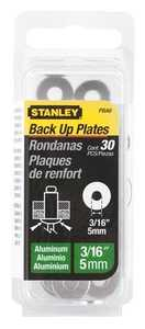Stanley Tools PBA6 Back Up Plate Alum 3/16 30pk