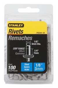 Stanley Tools PSS44-1B Steel Rivet 1/8x1/4 100box