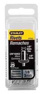Stanley Tools PTT42 Steel Rivet 1/8x1/8 25pk