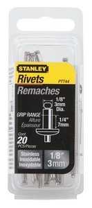 Stanley Tools PTT44 Steel Rivet 1/8x1/4 20pk