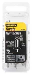 Stanley Tools PTT48 Steel Rivet 1/8x1/2 15pk