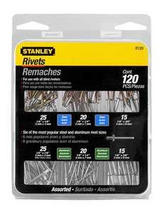 Stanley Tools R120 Steel Rivet/Aluminum 6pk