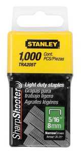 Stanley Tools TRA205T Light Duty Staples 5/16 In 1000bx