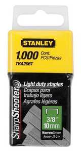 Stanley Tools TRA206T Staple Lt Dty 3/8 In 1000bx