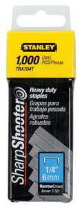 Stanley Tools TRA704T Heavy Duty Staples 1/4 In 1000bx
