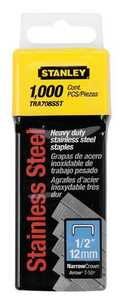 Stanley Tools TRA708SST Heavy Duty Staples 1/2 In Ss 1000bx
