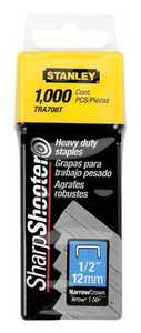 Stanley Tools TRA708T 1,000 Pc 1/2 In Heavy Duty Staples