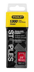 Stanley Tools TRC606T 1,000 Pc 3/8 In Heavy Duty Staples
