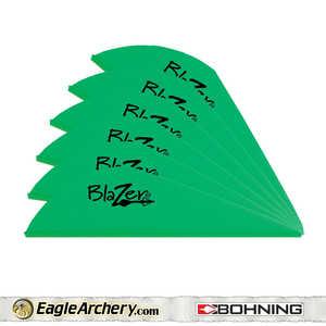 Bohning Archery 10833NG2 2 In Neon Green Blazer Vane 1pk