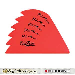 Bohning Archery 10833NR2 2 In Neon Red Blazer Vane 1pk