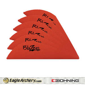 Bohning Archery 10833RD2 2 In Red Blazer Vane 1pk