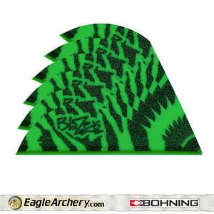 Bohning Archery 10833GT2 2 In Green Tiger Blazer Vane 1pk