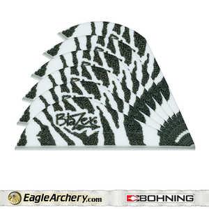 Bohning Archery 10833WT2 2 In Wht Tiger Blazer Vane 1pk