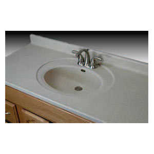 Imperial Marble RC6122 Single Recessed Oval Bowl Vanity Top 61x22 White