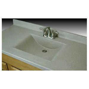 Imperial Marble W3722 Wave Bowl Vanity Top 11/2 in 37x22 Tan