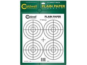 Caldwell 398669 Plain Paper 8 in Sight-In Target 25 Sheets