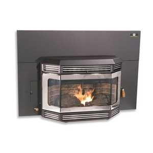 United States Stove Co SP2000IDBN Insert Pellet Stove W/Brushed Nickel Trim