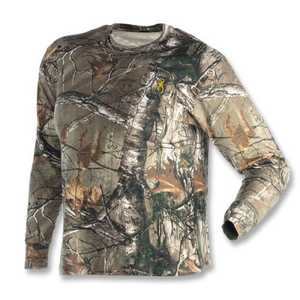 Browning 3011262402 Long Sleeve Tee Shirt Wasatch RealTree Xtra M
