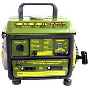 Buffalo Tools GEN1000I 1000/800-Watt 2-Cycle Sportsman Generator and Inverter