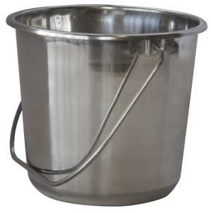 Buffalo Tools ssb132 Bucket Stainless Steel 1.32 Gal