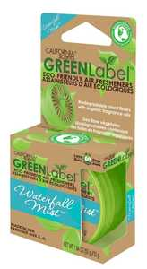 CALIFORNIA SCENTS GRLB-602TR2PK Green Label Eco-Friendly Air Fresheners Waterfall Mist Scent