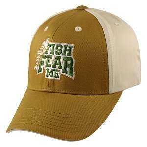 Captivating Headgear FISH-FFEAR Fish Fear Me, Hook and Hunt Series, Ball Cap