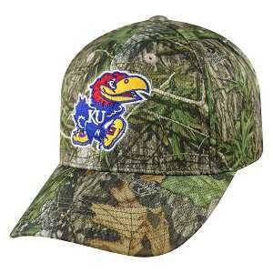 Captivating Headgear MOP-KS-MNB Kansas Univ., Mossy Oak Series, Mossy Plus Ball Cap