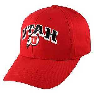 Captivating Headgear 1KAR-UT-2 Univ. of Utah, 1K Series, Arched 2-Tone Ball Cap