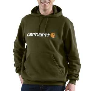 Carhartt 100074-307 Small Army Green Signature Logo Sweatshirt