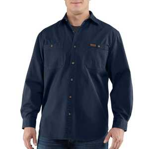 Carhartt 100091-412 4x-Large Navy Trade Long Sleeve Shirt